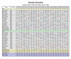7 blank monthly employee schedule template lease template for Monthly staffing schedule template
