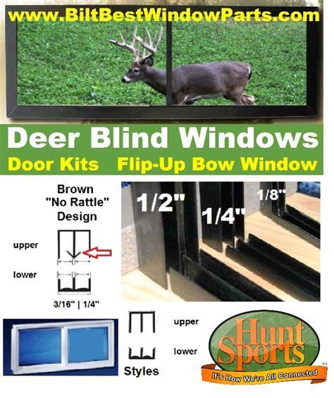 plans deer stand windows doors kits tower blind