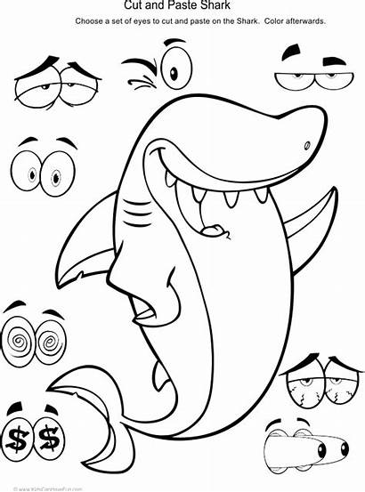 Cut Paste Activities Worksheets Preschool Shark Activity