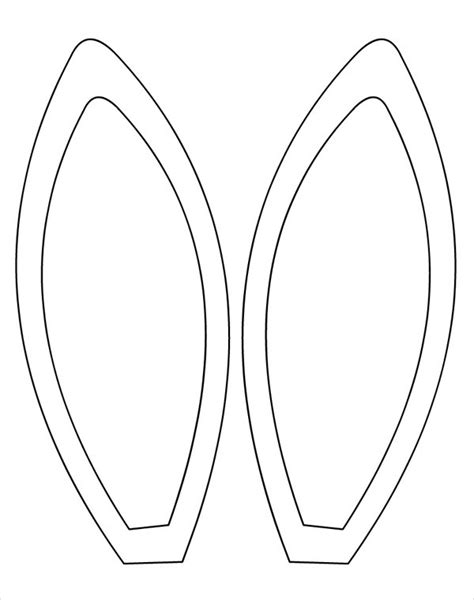Template For Ears by Rabbit Ears Silhouette