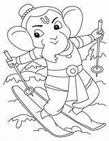 Ganesha Coloring Lord Ganesh Colouring Pages Sketch Pencil Drawing Ganpati Easy Simple Printable Template Cartoon Getcolorings Wonder Sketches Paintingvalley sketch template