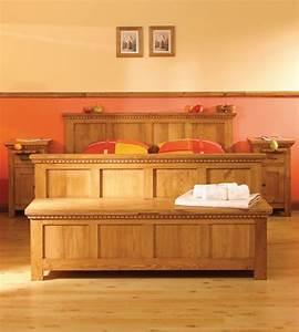 Bett 160x200 Holz : bett 160x200 cm naturwachs schubladen massiv aus holz ~ Watch28wear.com Haus und Dekorationen