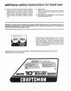 Craftsman 113244510 User Manual 10 Inch Direct Drive Band