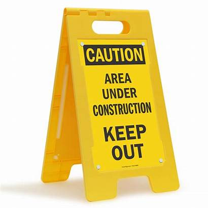 Construction Sign Floor Under Area Progress Standing