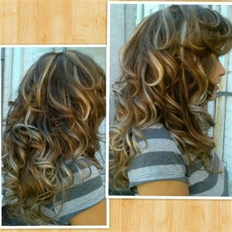 With Brown Hair by Curly Style On Extensions Of Brown Hair With Blond