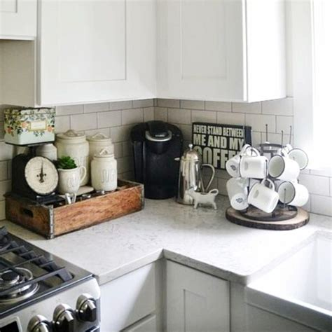 This coffee bar idea brings together old and new. Kitchen Coffee Bar Ideas - 30+ Kitchen Coffee Bar PICTURES   Kitchen remodel, Dark kitchen ...