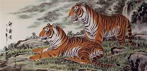 Chinese Tigers Painting - Asian Art Bargain Bin - Chinese ...