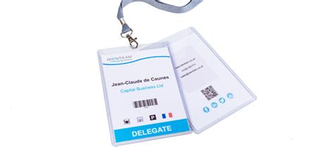 conference event id card badges  delegates identilam