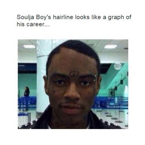 Soulja Boy Memes - soulja boy s hairline looks like a graph of his career