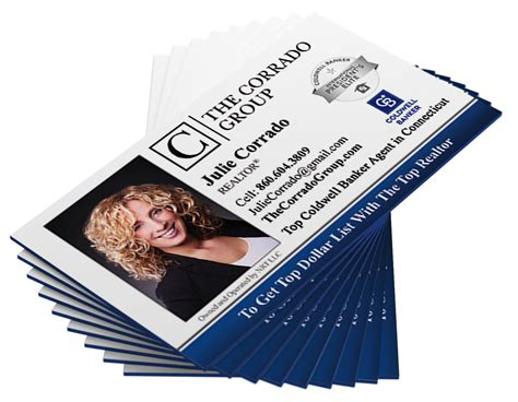 coldwell banker painted edge business cards