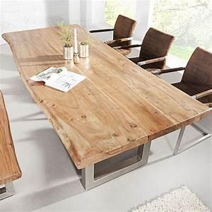 Details Zu Esstisch Baumstamm Tisch MAMMUT Akazie
