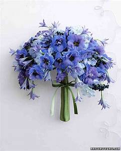 Blue Wedding Bouquets | Martha Stewart Weddings