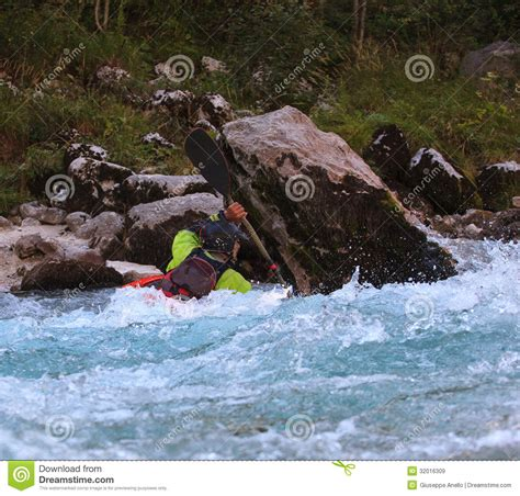 Paddle Boats River Torrens Prices by Kayaking On The Soca River Slovenia Editorial Stock Image