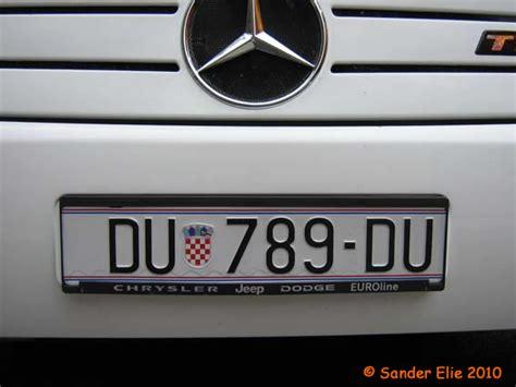 uroplates license plates europe croatia