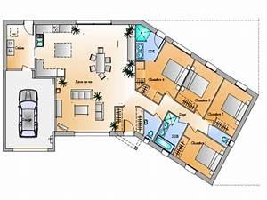 Idée Plan De Maison : maison 4 chambres top maison ~ Premium-room.com Idées de Décoration