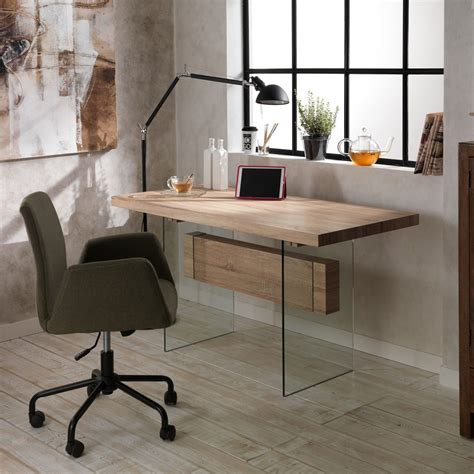 bureau modern eettafel bureau modern design in glas en mdf ivo