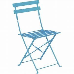 chaise de jardin en acier flore bleu leroy merlin With castorama chaise de jardin