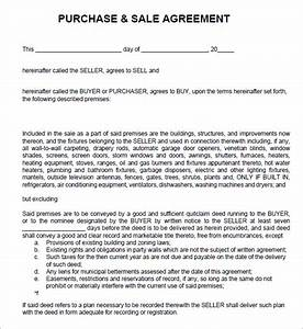 7 sales agreement templates word excel pdf templates With selling a business contract template free