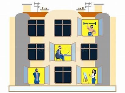 Apartment Windows Building Faire Chores Giorno Finestre