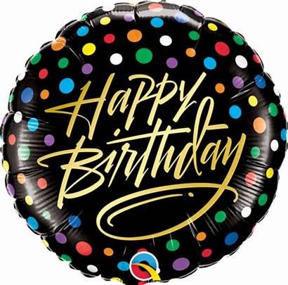 Gold Birthday Script Dots Foil Balloon Balloons
