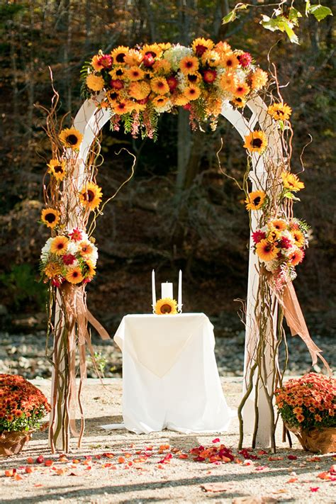 sunflower inspired wedding ideas  wedding blog