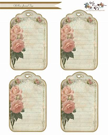 Journal Tags Rose Tag Cards Printable Labels