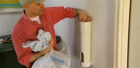 DIY Plastic Bag Storage Tube from PVC Pipe   Today's Homeowner