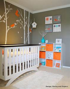 Gender neutral bird inspired nursery design dazzle for Modern unisex nursery ideas