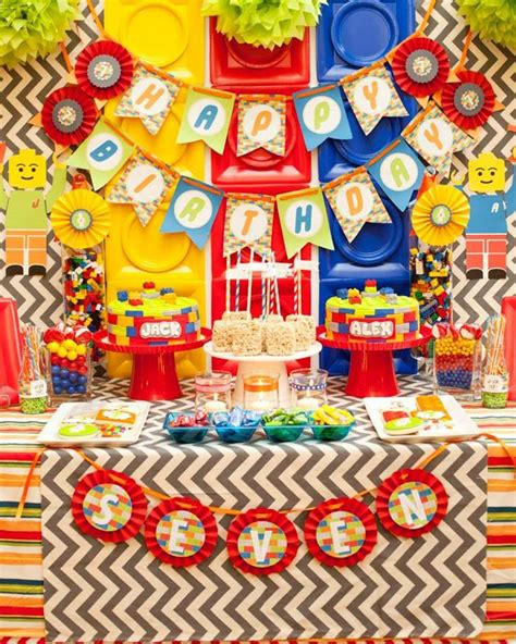 Kara's Party Ideas Twins Lego Party Planning Ideas