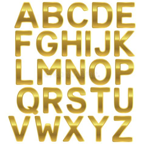 gold lettering font font gold uppercase alphabet stock vector illustration 29929