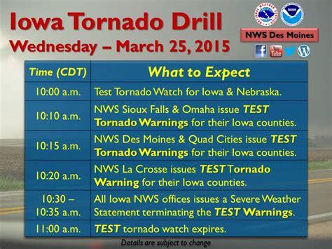 statewide tornado drill today wed  kjan radio
