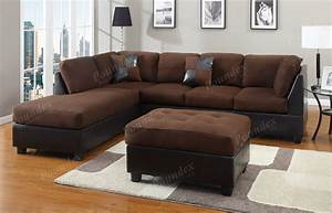 Diana dark brown leather sectional sofa set sofa for Sectional sofa set up