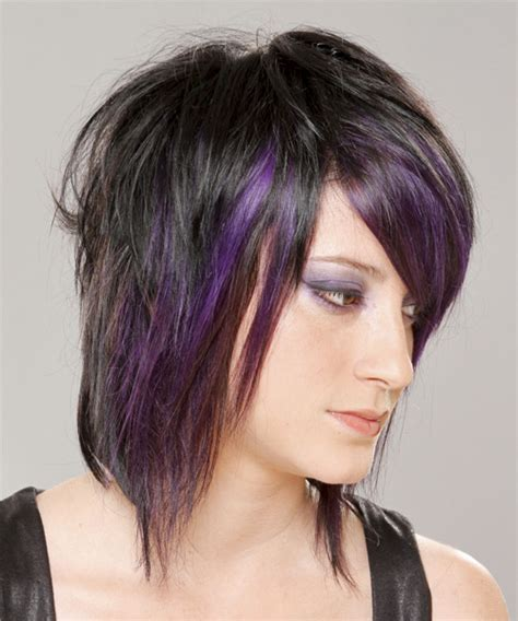 Alternative Hairstyles For by Medium Purple And Black Two Tone Hairstyle With