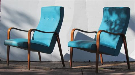 streamlined bentwood lounge chairs by thonet at 1stdibs