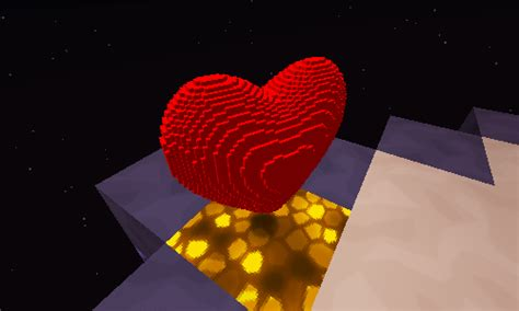 Armour Stand Minecraft by Block Models Undertale Red Soul Heart