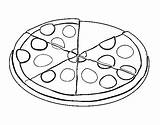 Pizza Coloring Pepperoni Pages Coloringcrew Colouring Slice Paint Sheet Printable Template Credit Getcoloringpages Larger sketch template