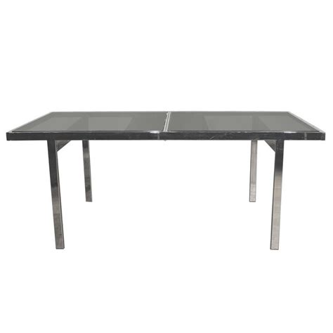 smoked glass dining table milo baughman expandable dining table chrome and smoked