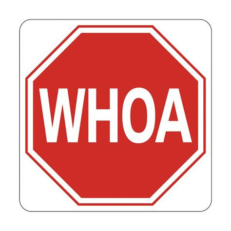 Whoa Stop Sign All Weather Barn Sign