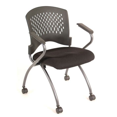 agenda nesting chair with arms and casters