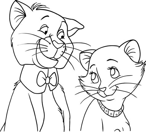 O'malley And Duchess Of Aristocats Coloring Pages