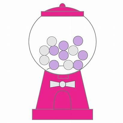 Gumball Gum Bubble Machine Clip Clipart Bubblegum