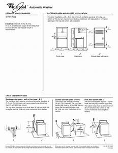 Download Free Pdf For Whirlpool Wtw5700s Washer Manual