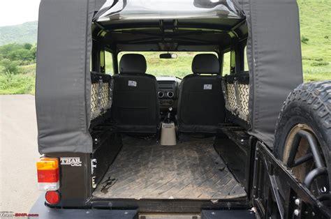 thar jeep interior team bhp 2015 mahindra thar facelift a close look