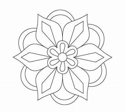 Rangoli Coloring Printable Pages Diwali Drawing Designs