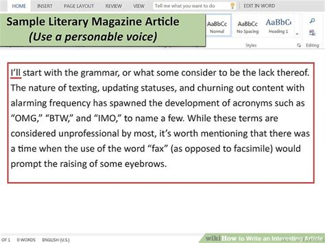 how to write an interesting article 15 steps with pictures