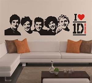 one direction sticker 1d poster bedroom living room With the best of one direction wall decals collections