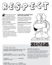 Respect Worksheets and Activities