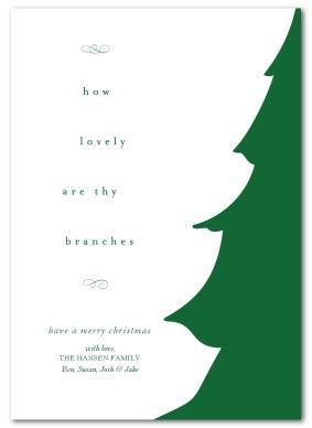 printable evergreen tree christmas card template