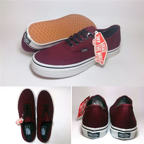 sepatu vans authentic black new vans authentic port royale maroon shoes shop id