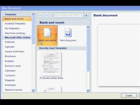 how to find resume template in microsoft word free resume templates in microsoft word youtube